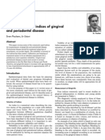 Epidemiology and Indices of Gingival