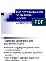 National Income Determination Report