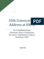 IIMB Convocation Address
