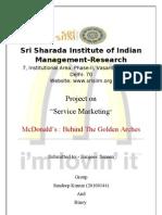 Macdonals Service Marketing