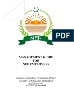 Management Guide for NEF Employees