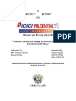Customer Satisfaction Insurance Products of ICICI Prudential