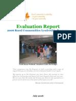 Evaluation Report Final ~ Rural Community Leadership Program