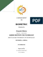 A Seminar Report+ Biometric