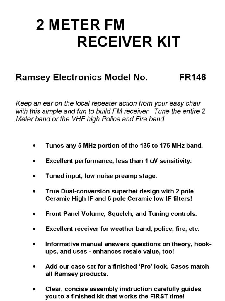 2 Meter Fm Receiver Kit | Detector (Radio) | Amplifier