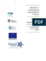 Transnational Assessment of Practice - Temalekplats playgrounds, Malmö