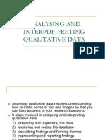 Analysing Interpreting Quali Data