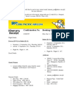This Itinerary Receipt Page Will Also Be Sent to Your Contact Email