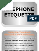 Telephone Etiquette Presentation