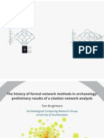 The history of formal network methods in archaeology
