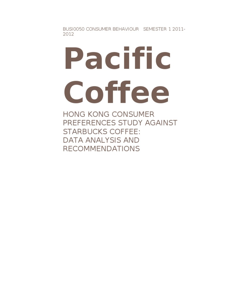 pacific coffee marketing plan essay