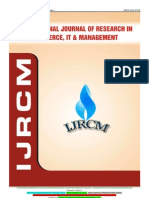 January 2012-International Journal of Research in Commerce, IT & Management