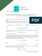 Taylors Theorem