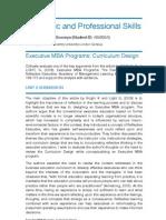 Basic Evaluation of Executive MBA Programs