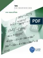 Ecuaciones Algebra Superior Unidad III RosaDePena