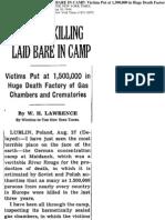 Nazi Mass Killing Laid Bare in Camp