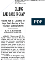 Nazi Mass Killing Laid Bare in Camp