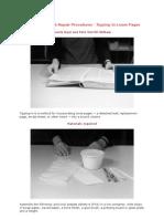 Three Basic Book Repair Procedures