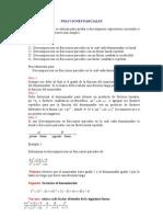 Fracciones Parciales y Ecuaciones,Estudio