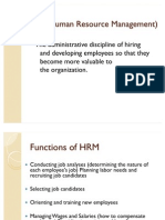 Hrm vs Personnel Mgt