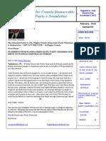 February 2012, Newsletter