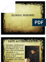 ELOGIUL NEBUNIEI