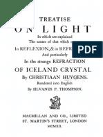 Huygens, Treatise on Light