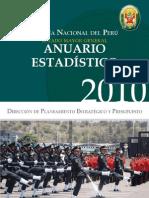 Estadísticas de robo en el Perú 2010