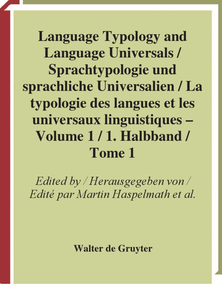 Language Typology and Language Universals
