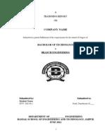 Traning Report Format[1]