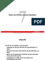 07 - Gérer les fichiers de journalisation