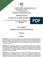 PropuestaASPUNal ProyectoLeyEducSuperior