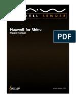 Maxwell for Rhino 2.6.0 Manual