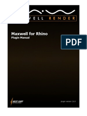 Maxwell for Rhino 2 6 0 Manual | Texture Mapping