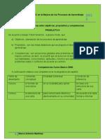 Diferencias entre objetivos, propósitos y competencias.