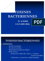 TOXINES BACTERIENNES