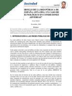 EL DESARROLLO DE LA RED PÚBLICA DE  DATOS EN ESPAÑA (1971-1991)