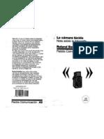 La cámara lucidad - Roland Barthes para web