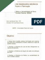 Estudo Sobre a Usinabilidade Do Ferro Fundido Nodular GGG40