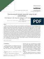 T.M. Tillotson et al- Nanostructured energetic materials using sol-gel methodologies