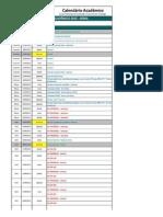 Calendario Academico 2012 1
