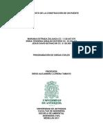 PRESUPUESTO DE LA CONSTRUCCIÓN DE UN PUENTE