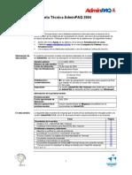 Carta Tecnica ADMW230
