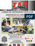 Curso de Operador Tático de Emergências Médicas Maio 2012 - APH Tático