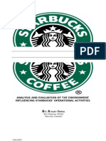 Business Environment Audit for Starbucks (2009)