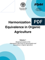 Harmonization and Equivalence in Organic Agriculture