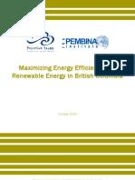 Maximizing Energy Efficiency and Renewable Energy in British Columbia