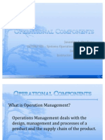 Operational Components
