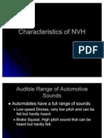 Characteristics of NVH