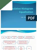 Cumulative Histogram Equalization